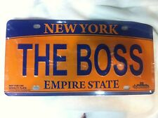 THE BOSS LICENSE PLATE NEW YORK SOUVENIRS CAR LICENSE PLATE