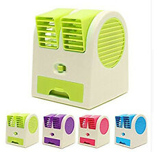 Mini Fan Portable Dual Bladeless USB Battery Air Conditioner Fan for Home/Office