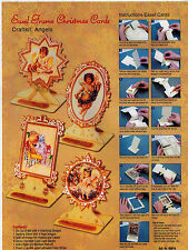 CHRISTMAS EASEL KIT PAPER TOLE DIMENSIONAL GERMANY CARD ORNAMENT CHERUB ANGEL