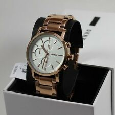 NEW AUTHENTIC DKNY SOHO ROSE GOLD CHRONOGRAPH LADIES WOMEN'S NY2275 WATCH