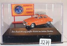 Brekina 1/87 PC Nr. 28508 Saab 96 Polarkreis in Plexi-Box #3274