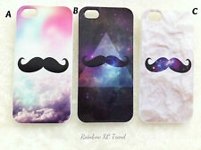 Moustache in Galaxy/Cloud Space/Cloud Sky iPhone 5 5s Case