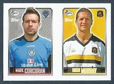 TOPPS 2013/14 SCOTTISH P.F.L- #234/464-STRANRAER/DUMBARTON-M CORCORAN / H MURRAY