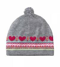 new NWT RUUM girls AMERICAN EAGLE Gray Fair Isle Cashmere Sweater Hat One Size