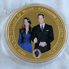 WILLIAM & CATHERINE 2010 COOK ISL PHOTO 24ct GOLD PLATED PROOFLIKE $1