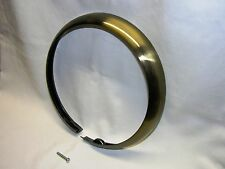 "Antique Brass Finished Trim Ring for Early Harley FL/FLH 7"" Headlights, Bobber"