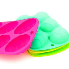Silicone Easter Egg Mould Baking Cake Crafts Chocolate Fondant Decorating Random