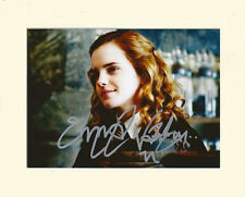 EMMA WATSON HARRY POTTER HERMIONE GRANGER PP MOUNTED SIGNED AUTOGRAPH PHOTO