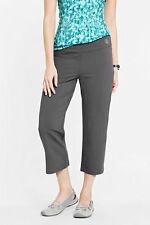 NWT Lands End Womens Active Sport Poly Spandex Crop Pants Gray 432951 XS 2-4 $49