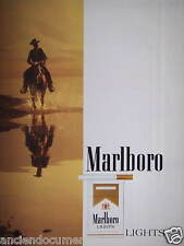 PUBLICITÉ 1987 MARLBORO LIGHTS - ADVERTISING