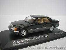 MERCEDES BENZ 300 CE-24 COUPE 1990 SCHWARZ BLAU METALLIC 1/43 MINICHAMPS   NEU