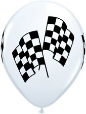 "11"" Checkered Racing Flag Balloons (10) - Nascar Themed Birthday Party Supplies"