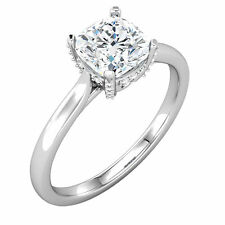 Stuller Made Semi Mount Setting White Gold Cushion Engagement Solitaire Mounting