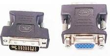 Lot of 5 DVI-I male Analog (24+5) to VGA Female (15-pin) Adapter