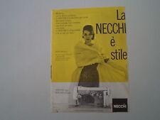 advertising Pubblicità 1960 MACCHINA PER CUCIRE NECCHI