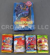 Marvel Over Power Card Game Complete Booster Box 36 Unopened 9 Card Packs Fleer