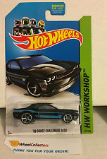 '08 Dodge Challenger SRT8 #227 * BLACK * Hot Wheels 2013 * J4