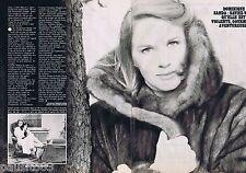 COUPURE DE PRESSE CLIPPING 1980 DOMINIQUE SANDA    (2 pages)