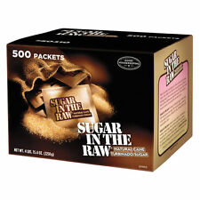 Sugar in the Raw 500 Individual Packets - Natural Cane Sugar Great for Coffee
