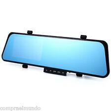 LCD Dual Lens Car Video Dash Cam Recorder Rearview Mirror Front Vehicle DVR