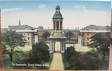 Irish Postcard THE CAMPANILE Bell Tower Trinity College Dublin Ireland Lawrence