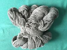 Schafwolle Wolle Schurwolle stricken hellgrau:1000g = (1Kg)