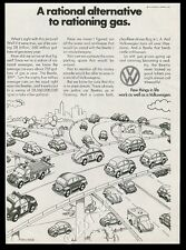1973 VW Volkswagen Beetle fire truck taxi cab police car vintage print ad