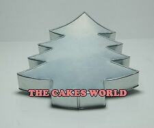 CHRISTMAS TREE SHAPED BIRTHDAY NOVELTY BAKING CAKE TIN