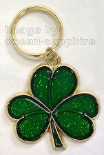 SHAMROCK St Patricks Day Key Ring Keychain Key Chain NEW Great Gift! Green Saint