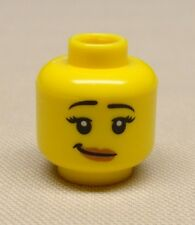 x1 NEW Lego Minifig Head Girl Female w/ Crooked Smile & Pale Flesh Lipstick