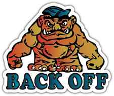 "Back Off Monster Tailgater Funny Car Bumper Window Vinyl Sticker Decal 5""X4"""