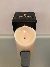 "NEW Model, Luminara Flameless Candle 3.5"" x 5""  Vanilla Scented Ivory, 1 Remote"