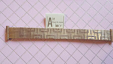 BRACELET MONTRE EXTENSIBLE PLAQUE OR LAMINOR  /  20mm / RZ76