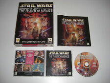 Star Wars Episode 1 THE PHANTOM MENACE Pc Cd Rom Original BIG BOX - FAST POST