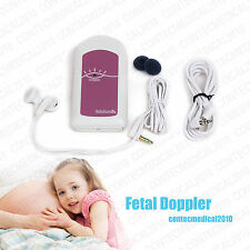 prénatale Doppler fœtal Coeur Baby Monitor de taux Fetal Doppler PINK NO DISPLAY