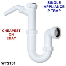 "1 1/2"" Sink Waste P Trap with SINGLE Spigot Branch - Washing Machine Dish Washer"