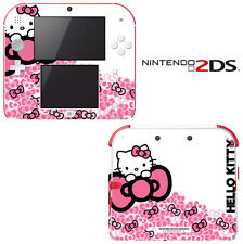 Vinyl Skin Decal Cover for Nintendo 2DS - Cute Kitty Pink Bow