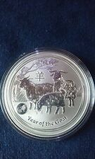2015 1 oz Australia Perth Mint Lunar Year of the Goat (Lion Privy) Silver Coin