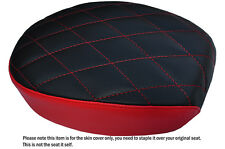 TWO TONE DIAMOND B RED CUSTOM FITS HARLEY SPORTSTER 883 48 72 REAR SEAT COVER