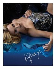 KYLIE MINOGUE SIGNED AUTOGRAPHED A4 PP PHOTO POSTER