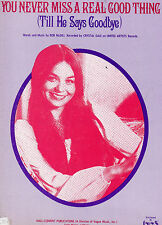Crystal Gayle sheet music You Never Miss a Real Good Thing  1976 4 pp (NM shape)