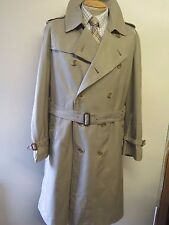 Genuine Burberry Olive Mac Trench Coat Raincoat Size 44 Euro 54 R + wool liner