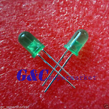 100Pcs LED DIFFUSED  F5 5MM GREEN COLOR GREEN LIGHT Super Bright Bulb Lamp L3