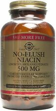 No-Flush Niacin (Vitamin B3), Solgar, 100 capsule 500 mg
