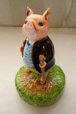 Sweet Schmid Beatrix Potter Pigling Bland Music Box, 1977 Plays King of the Road
