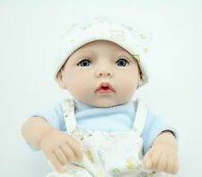 Reborn Baby Doll Boy Lifelike Full Vinyl Real Looking Cheap Baby Doll 10""