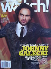 JOHNNY GALECKI  December 2013 WATCH!   JOSH CHARLES  BRIAN DIETZEN  CLAUDIA LEE