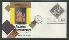# 1540 AMERICAN MINERAL HERITAGE, TOURMALINE 1974 FLEETWOOD First Day Cover