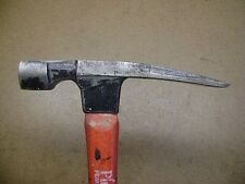 "VTG PLUMB 22 Oz. Rock Hammer Pick Geologist Masons 11 1/2"" Wood Handle"
