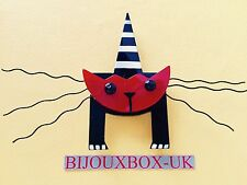 "MARIE CHRISTINE PAVONE, ""MASCOTTE"" CAT  BROOCH.  Free post worldwide."